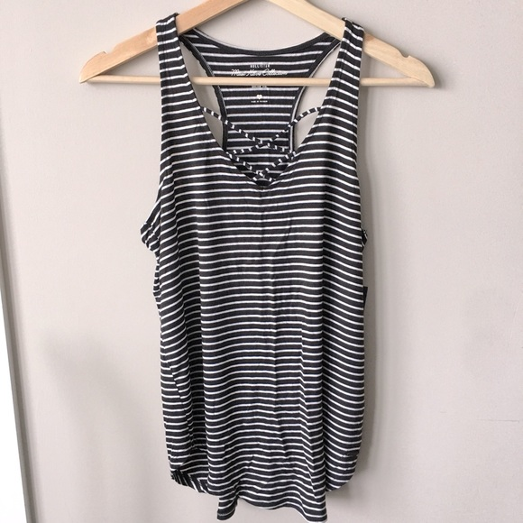 Hollister Striped Lace-Up Racerback Swing Tank